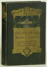 Edith Wharton Maxfield Parrish Italian Villas and Their Gardens 1905 Century