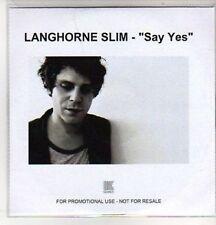 (AS214) Langhorne Slim, Say Yes - DJ CD