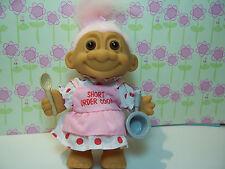 """SHORT ORDER COOK - 5"""" Russ Troll Doll - NEW BAG - Light Pink Hair"""