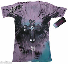 NWT Remetee Graphic Tee by Affliction Clothing Short Sleeve T-Shirt Size M