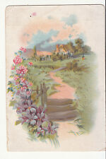 Ivers & Ponds Pianos A C Andrews Music Co Willimantic CT Conn Vict Card c 1880s