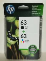 HP 63 Black & Tri-color Original Ink Cartridges 2 Pack (L0R46AN) Exp 2020