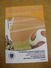 29/04/2012 Rhondda League U16 Cup Final: AFC Porth v Treherbert BGC [At Ynyscyno