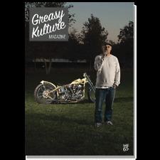 Greasy Kulture Magazine 65 Harley Triumph Panhead HD FXR FXD AJS BSA GKM