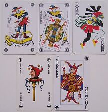5 verschillende Jokers, playing cards (1)