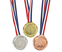 1st, 2nd & 3rd Place Award Medals Gold, Silver Bronze Sports Day Olympic Winners