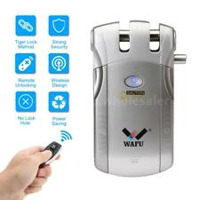 WAFU Wireless Invisible Keyless Door Lock Remote Control Lock 4Key Security P9M1