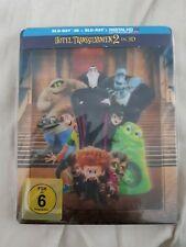 Hotel Transylvania 2 Steelbook Bluray + DVD + Lenticular Magnet German Import