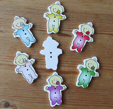 Wooden Baby Cardmaking & Scrapbooking Buttons