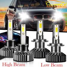 For BMW E70 X5 2005-2013 4x H7 & H1 LED Headlight 6500K 12000LM Hi Lo Beam Bulbs