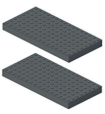2 Lego XL BRICKS 8 x 16 Studs (DBG,floor,platform,building,story,plate,base,car)