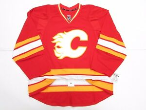 CALGARY FLAMES AUTHENTIC THIRD THROWBACK REEBOK EDGE 2.0 7287 JERSEY SIZE 58+