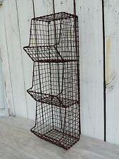 General store metal wall bin organizer storage primitive country home/wall decor