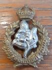 THE QUEENS OWN WORCESTERSHIRE HUSSARS YEOMANRY CAP BADGE IN BI METAL ON...