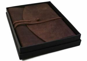 Enya Leather Journal Rustic Tan, A4 Plain Pages - Handmade by Life Arts