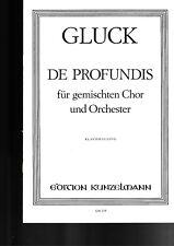 Ch.W.Gluck: De Profundis für gemischten Chor & Orchester. Klavierauszug.