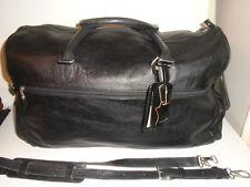"ROOTS QUALITY  21""  EXECUTIVE BLACK LEATHER DANIER DUFFLE BAG  +1 $480CAD RETAIL"