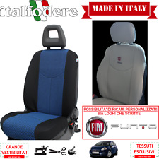 COPPIA COPRISEDILI Anteriori Specifici FIAT PUNTO (Tutte) Foderine Azzurro 39
