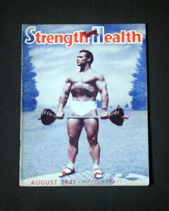 STRENGTH & HEALTH MAGAZINE AUGUST 1941 JOHN GRIMEK