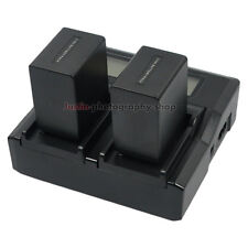 LCD Quick Charger +2x4500mAh Battery for Sony NP-FV100 NP-FV70 DCR-DVD Handycam