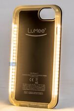 LuMee Duo Illuminated LED Light Up Case for Apple iPhone 6/7/8 Black Matte