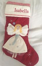 "Pottery Barn Kids Blonde Angel Christmas Quilted Stocking ""Isabella""  NWT NLA"
