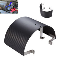 Carbon Fiber Style Car Cold Air Intake Cone Motion Air Filter Cover Heat Shield
