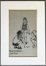 "[Edwina Smith Lashbrook]  SIGNED Original Ink Drawing  ""Game Plan""   Circa 1970"
