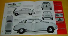 1963 Saab 96/850 GT 3 Cylinder 841cc 3 Solex Carbs Info/Specs/photo price 15x9