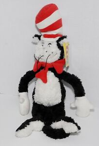 """NEW MANHATTAN TOY DR. SEUSS CAT IN THE HAT 12"""" SOFT PLUSH TOY VINTAGE 2000 NWT"""