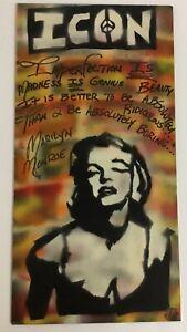 Marilyn Monroe ICON Painting By Tony B Conscious Venice Beach Ghetto Van Go