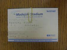 16/05/2001 BIGLIETTO: play-off semi-Finale di Divisione 2, la lettura V Wigan Athletic. T