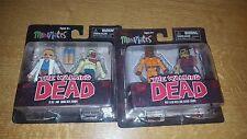 THE Walking Dead MINI Mates Figura NUOVO MINIMATES Zombie Dexter Alice 2 confezioni