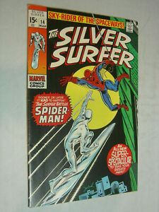 The Silver Surfer #14 VG the Surfer battles Spider-Man WOW