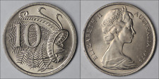 Australia 1974 10 Cents Lyrebird - UNC - EX MINT ROLL (KH114.2)