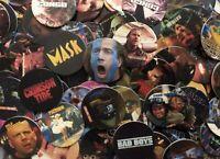 Lot of 100 Movie Themed Pogs / Milk Caps Unsorted! Retro Game Nostalgia!