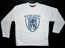 SISMIX PULL SWEAT BLANC SOCCER LEAGUE 10 ANS NEUF