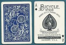 Early USPC Russell Morgan Bicycle 808 Brand Playing Cards Emblem 1895