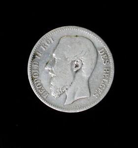 1867 Belgium 2 Franc Silver Coin