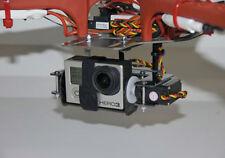 PHANTOMOUNT DJI F450 X2 CARBON FIBER 2 AXIS GIMBAL FULLY ASSEMBLED W/SERVOS