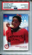 Simone Biles 2016 Topps Olympic Signed Trading Card PSA Authentic AUTO Autograph