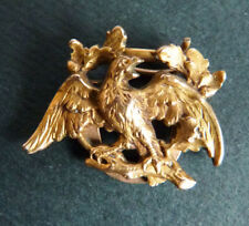 Coulant passant de collier en FIX plaqué or ancien vers 1900 oiseau