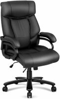 High Back Executive Office Chair Big & Tall, 400lbs Leather Computer Desk Chair