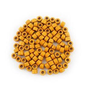 Ceramic tubes Dark Orange 6mm 100 Piece Ceramics beads Ceramic Beads
