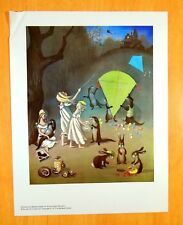Ad Print When The Sky Is Like Lace Barbara Cooney 1975 Rabbits Play Marbles Kite