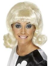 Blonde 60s Flick-Up Wig Ladies Fancy Dress 1960s Hairspray Costume Accessory New