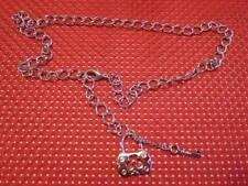 (00612) Halskette Schloss mit Schlüssl - silberfarben - sieht toll aus