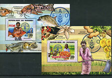 Burundian Fish & Marine Animals Sheet Postal Stamps