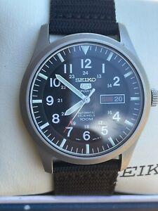Seiko 5 Sports Men's Black dial Watch - SNZG15, field watch