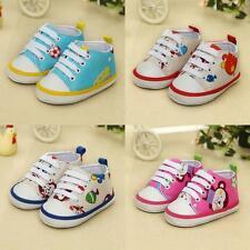 Toddler Newborn Shoes Baby Kids Boy Girl Soft Sole Cartoon Canvas Sneaker S03